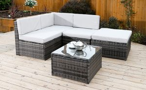 rattan furniture corner sofa
